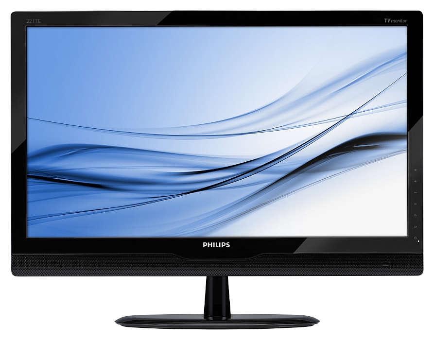 Doskonałe wrażenia przy oglądaniu telewizji na monitorze LED