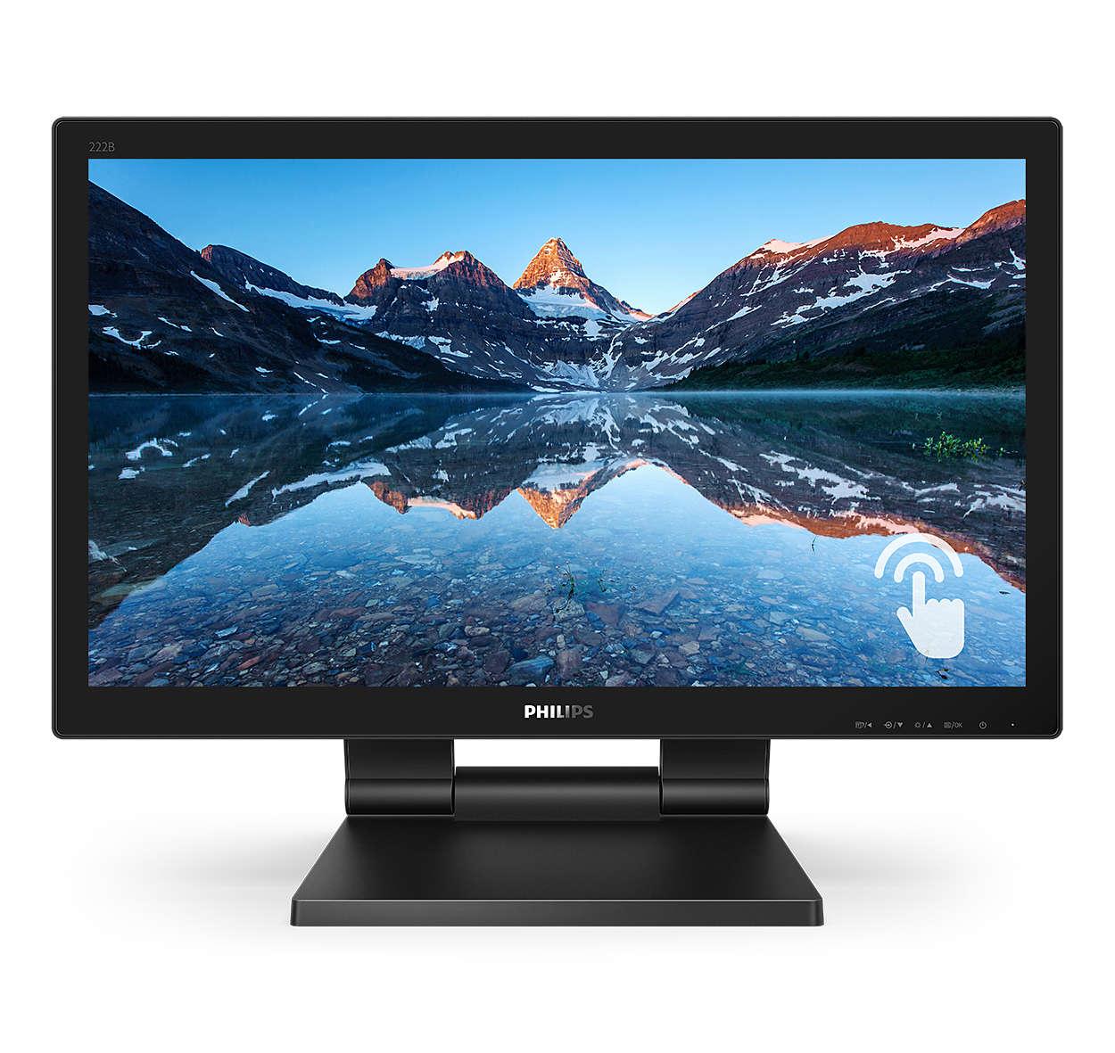 Monitor interativo brilhante com SmoothTouch