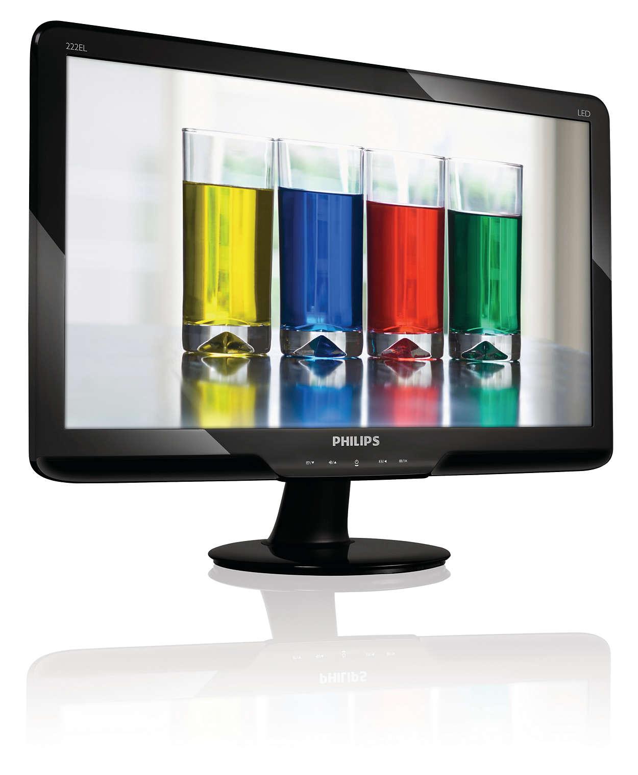 優雅 Full HD LED 顯示器,呈現自然色彩