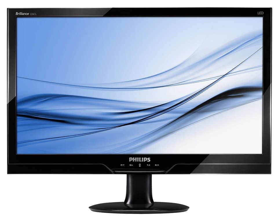 Stijlvol Full HD LED-scherm met natuurlijke kleuren