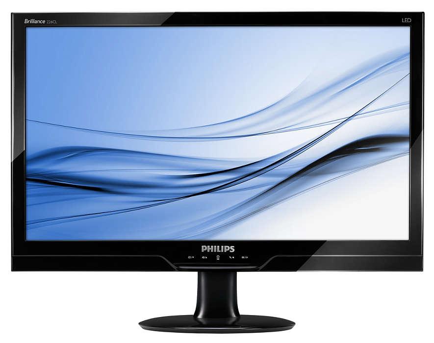 Snygg Full HD LED-skärm med naturliga färger