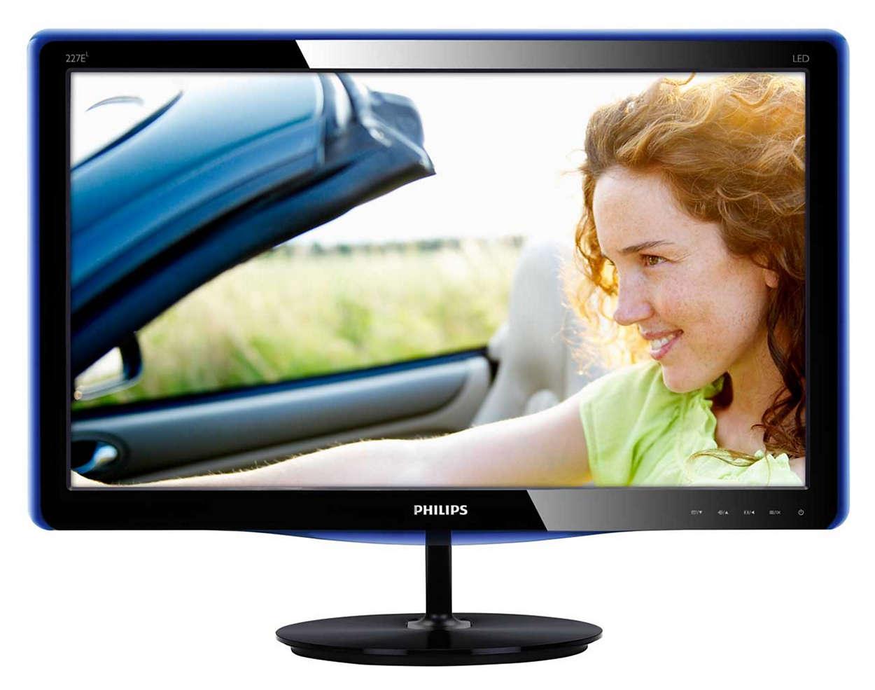 O ecrã elegante melhora a sua experiência de visualização