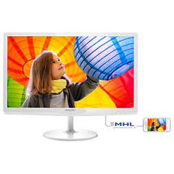 LED foninio apšvietimo LCD monitorius