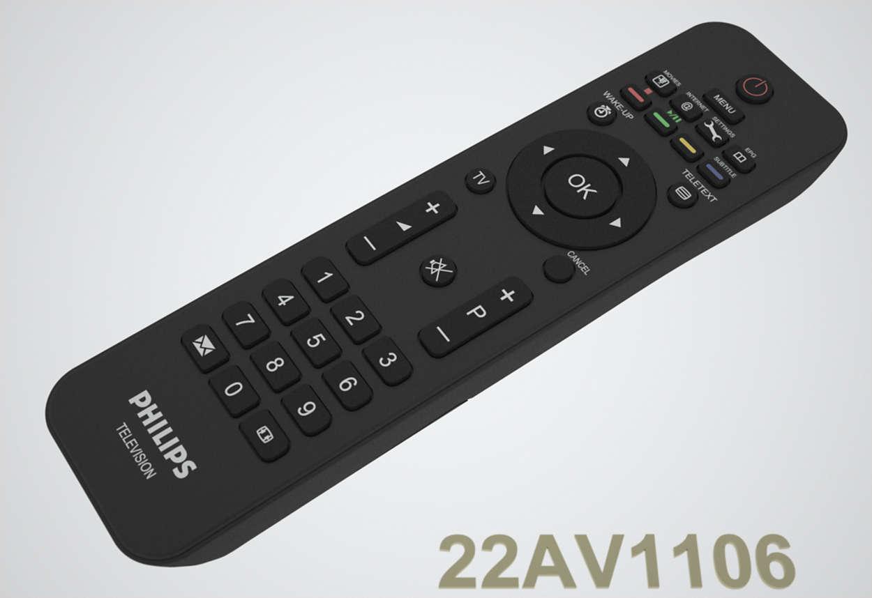 Spesiell fjernkontroll for hotell-TV