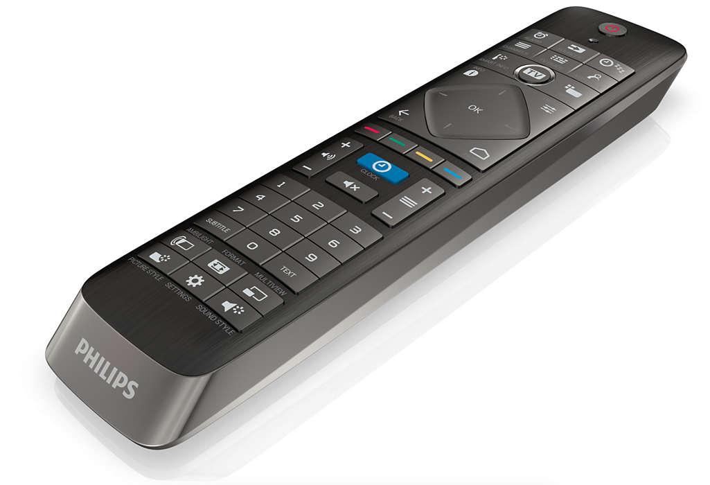 Telecomando premium com teclado QWERTY
