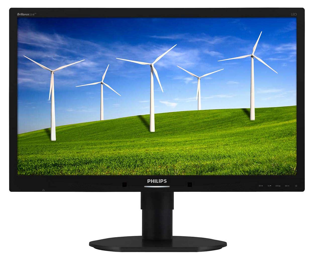 Monitor o ekologicznej konstrukcji