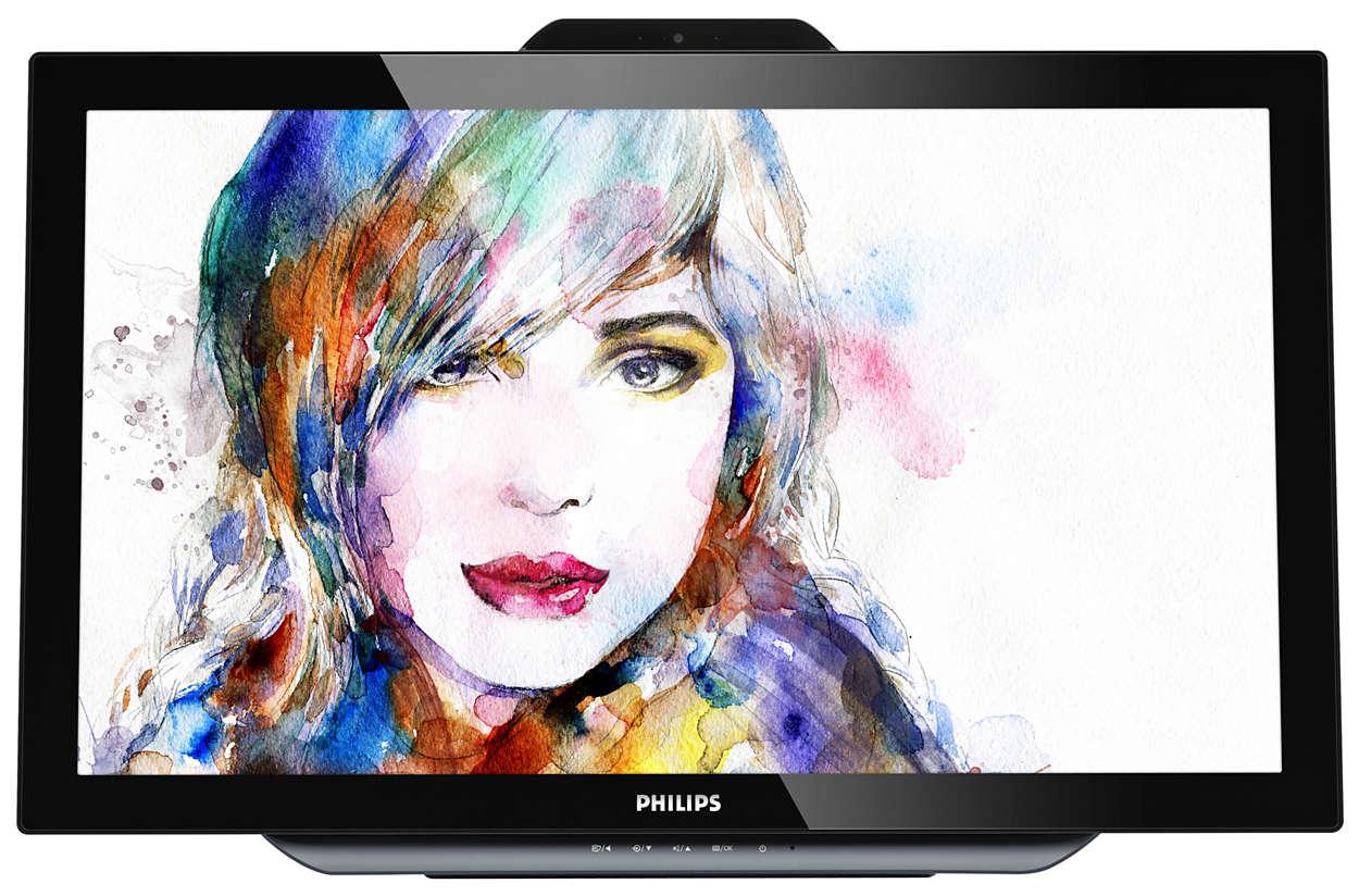 Monitor interativo brilhante