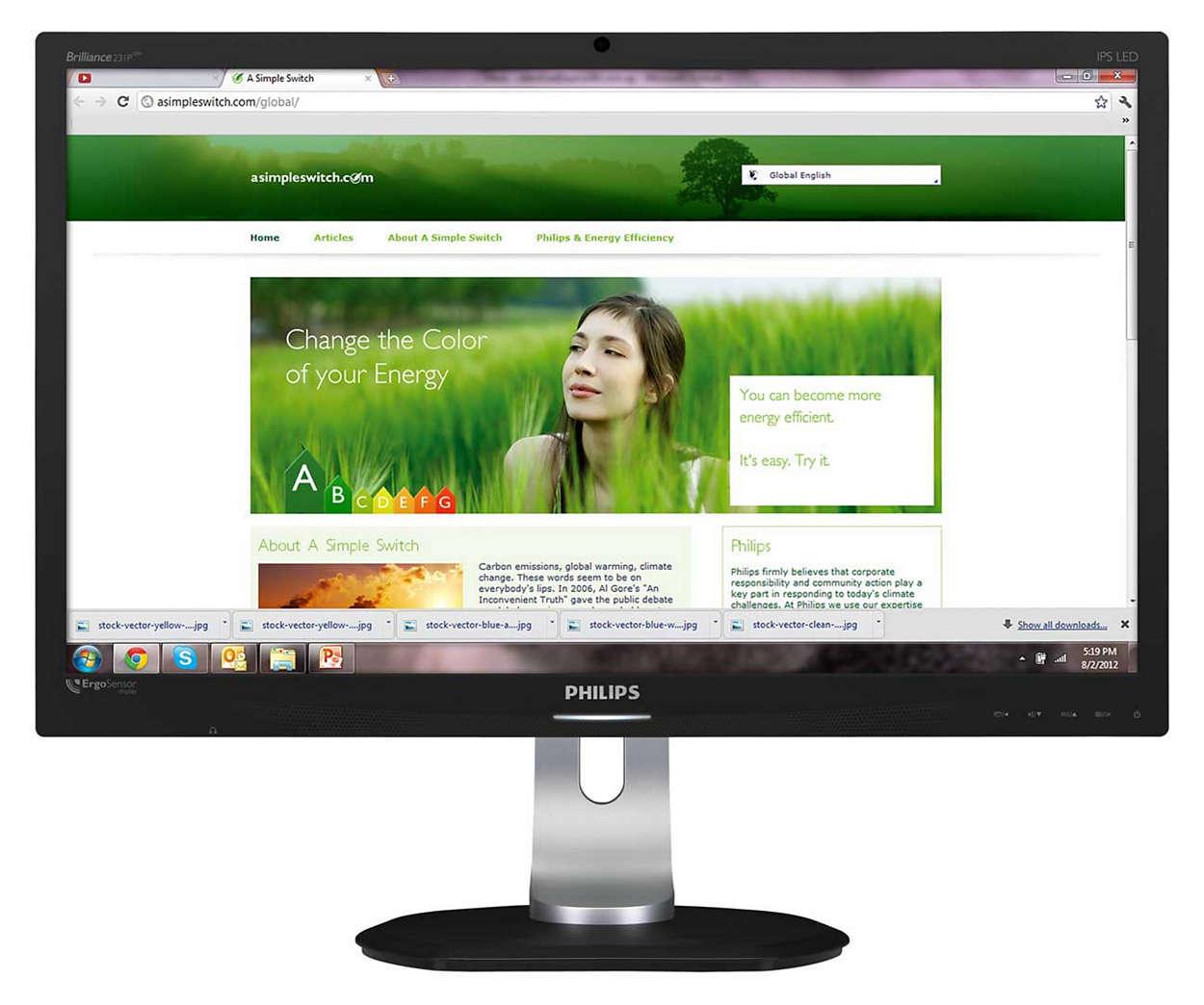 Pierwszy na świecie monitor z technologią ErgoSensor