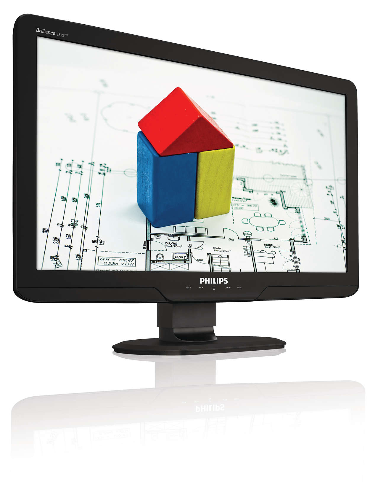 Big ergonomic display enhances productivity