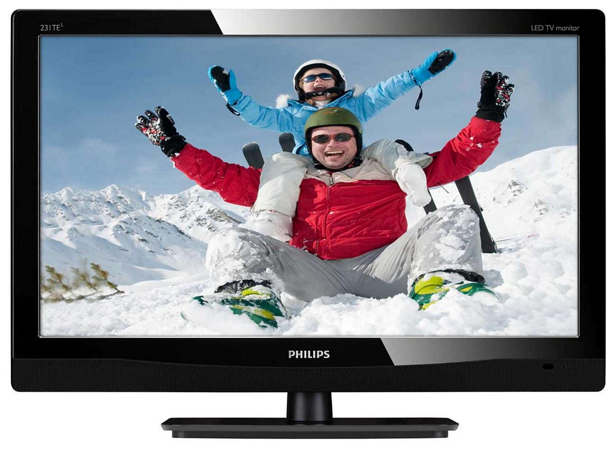 Excelente entretenimiento de TV en el monitor LED Full HD