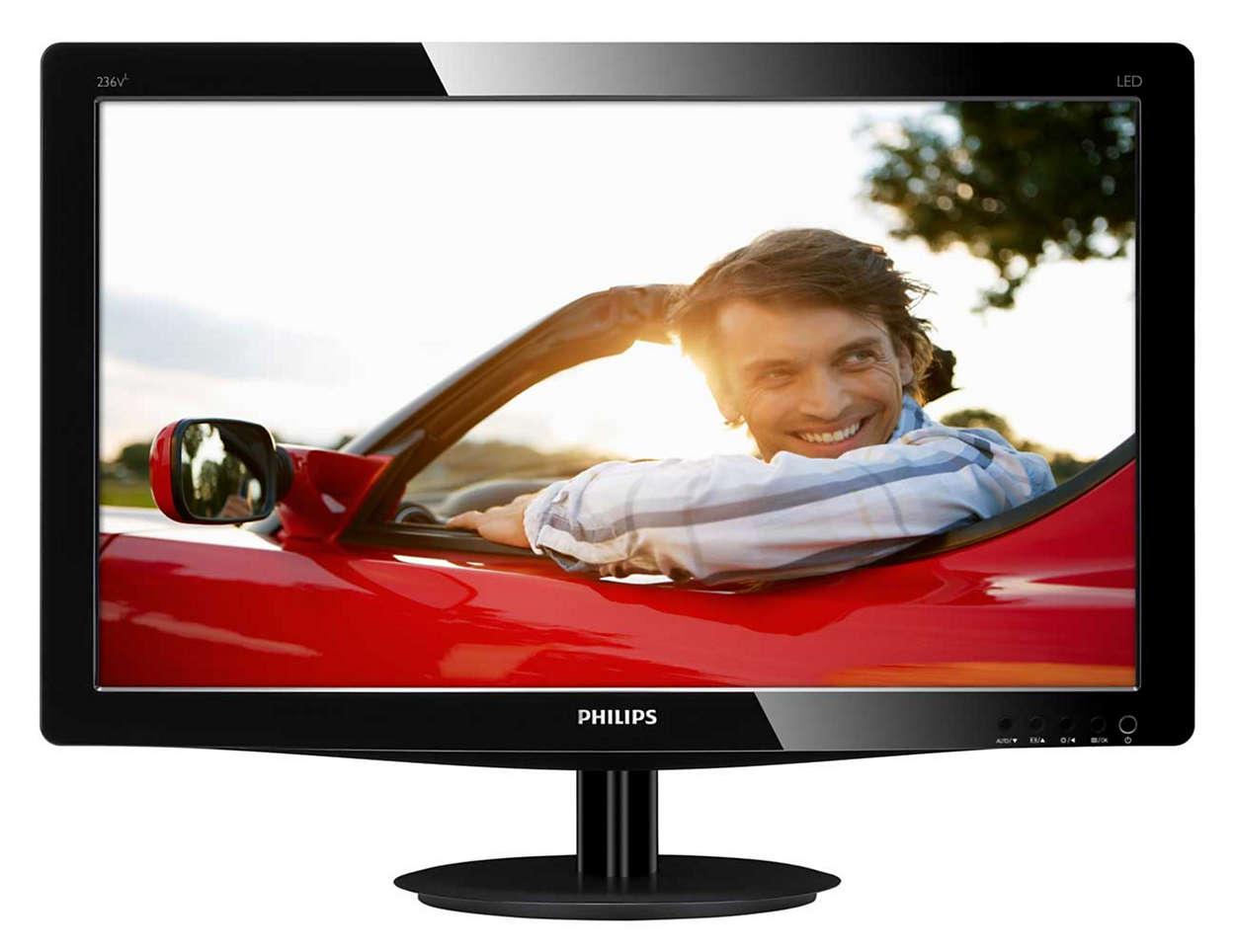 Наслаждайтесь отличным качеством яркого LED-изображения