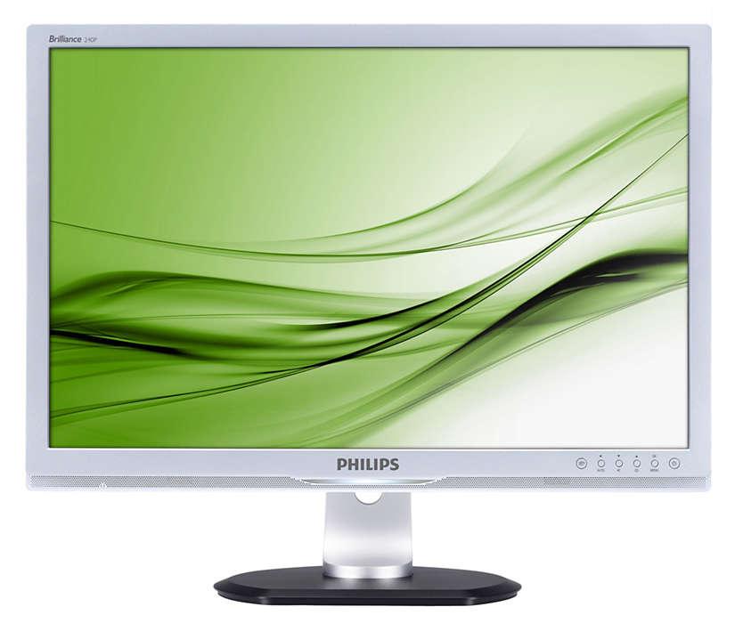 Ergonomiczny monitor zapewnia większą wydajność pracy