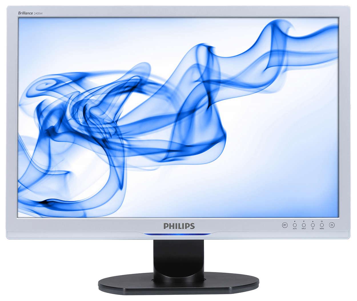 Nagyméretű széles képernyős monitor a nagyobb hatékonyságért