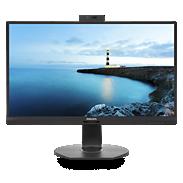 LCD-skjerm med USB-C-dokkingstasjon