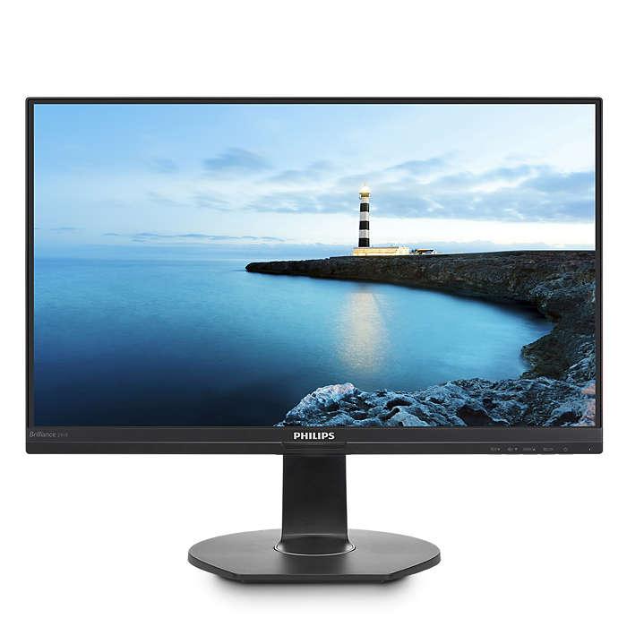 Simplicidade com monitor para computador portátil