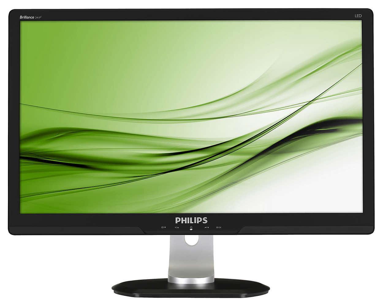 Professionele, productiviteitsverhogende ergonomische monitor