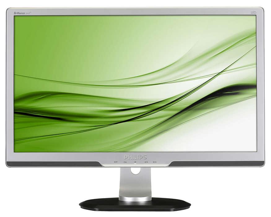 Schermo ergonomico professionale per una maggiore produttività