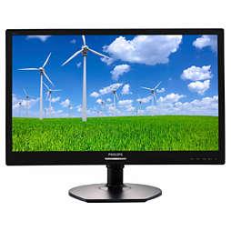 LED-baggrundsbelyst LCD-skærm
