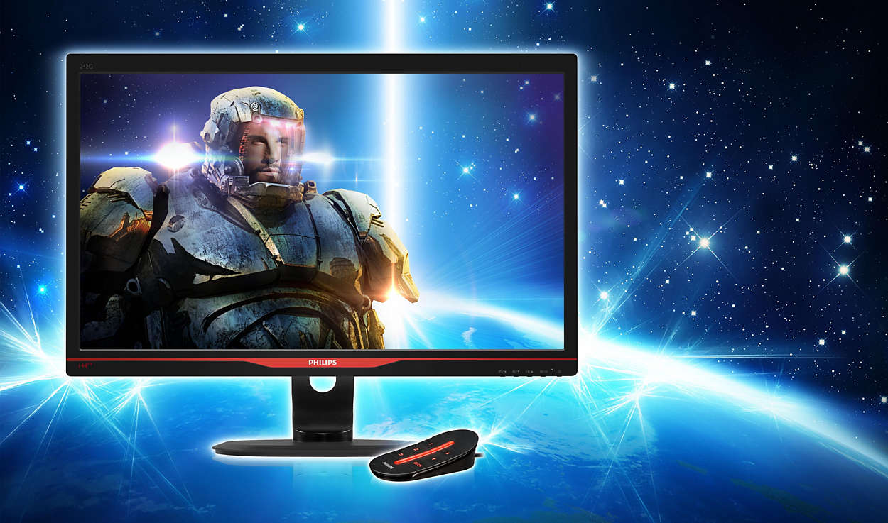LCD monitor with SmartImage Game