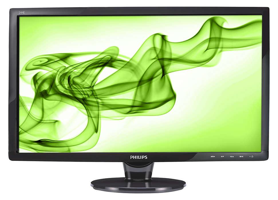 Visor HDMI grande para entretenimento em Full HD