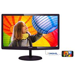 LED sānu apgaismojums, LCD monitors