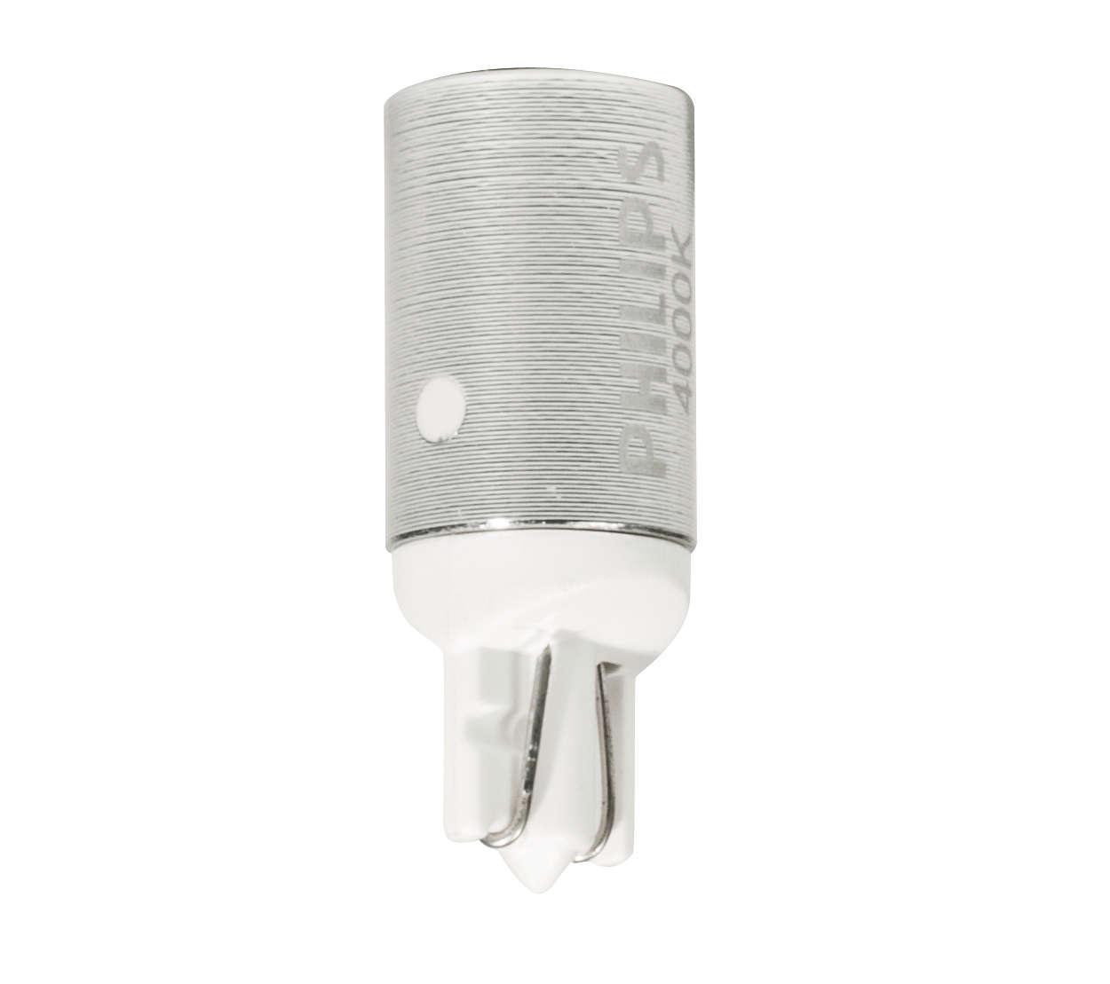 Další generace žárovek LED T10 pro dodatečnou instalaci