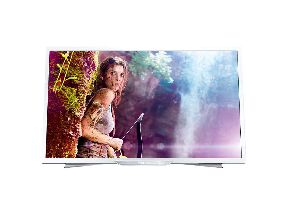 Smukły telewizor LED