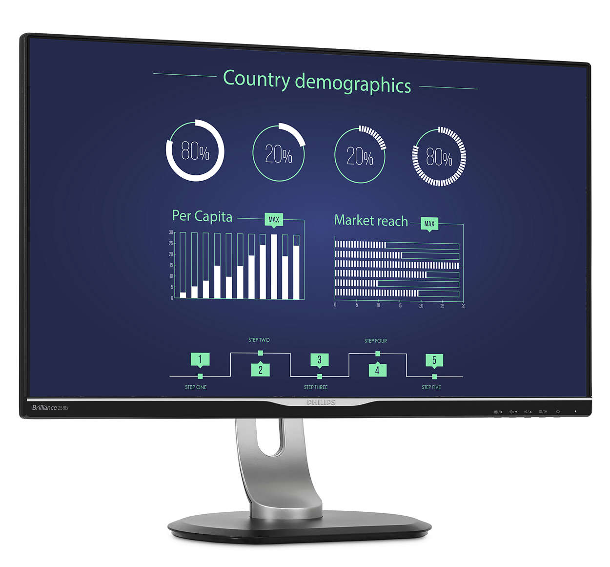 LCD-Monitor mit USB-C-Dockingstation 258B6QUEB/00 | Philips