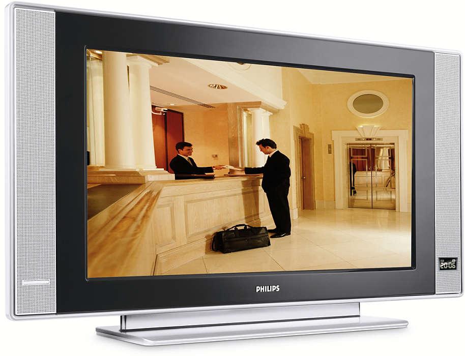 Практичен плосък телевизор за хотели