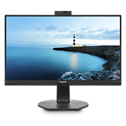 LCD monitor with USB-C Dock