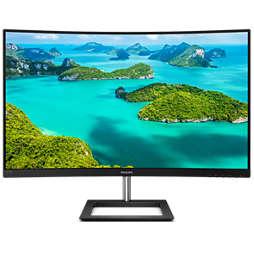 Välvd LCD-skärm med Full HD