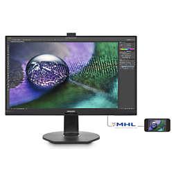 Brilliance צג LCD ברזולוציית 4K UHD עם PowerSensor