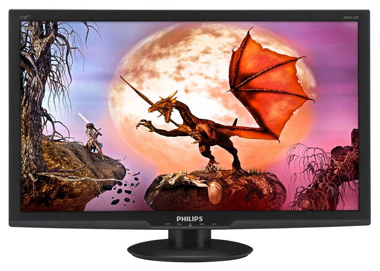 Wspaniała rozrywka na dużym monitorze LED