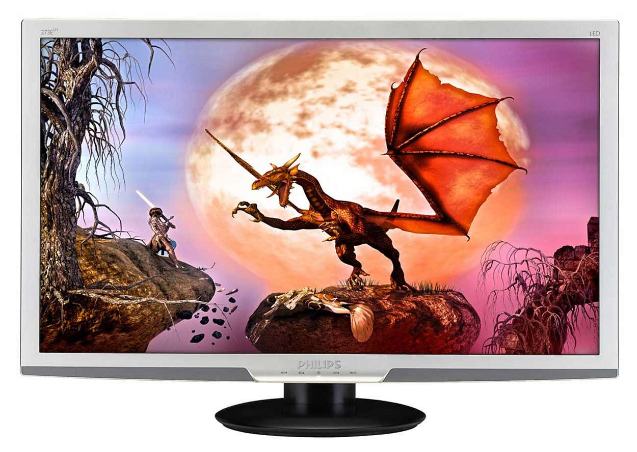 Óptimo entretenimento no seu ecrã LED grande