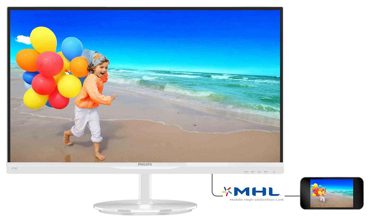 Imagens vibrantes com um ecrã AH-IPS