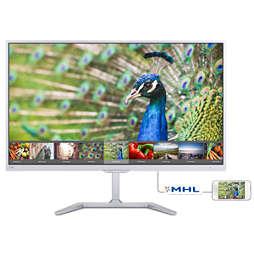 液晶顯示器搭配 Ultra Wide-Color 超寬廣色域技術