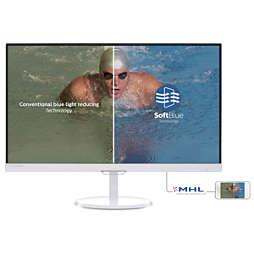 采用 SoftBlue 技术的液晶显示器