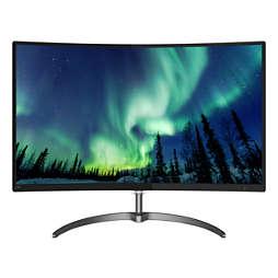 具備超廣闊色域的曲面 LCD 顯示器