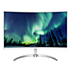 Curved LCD monitor with ultra wide color