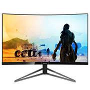 Momentum 具備超廣闊色域的曲面 LCD 顯示器