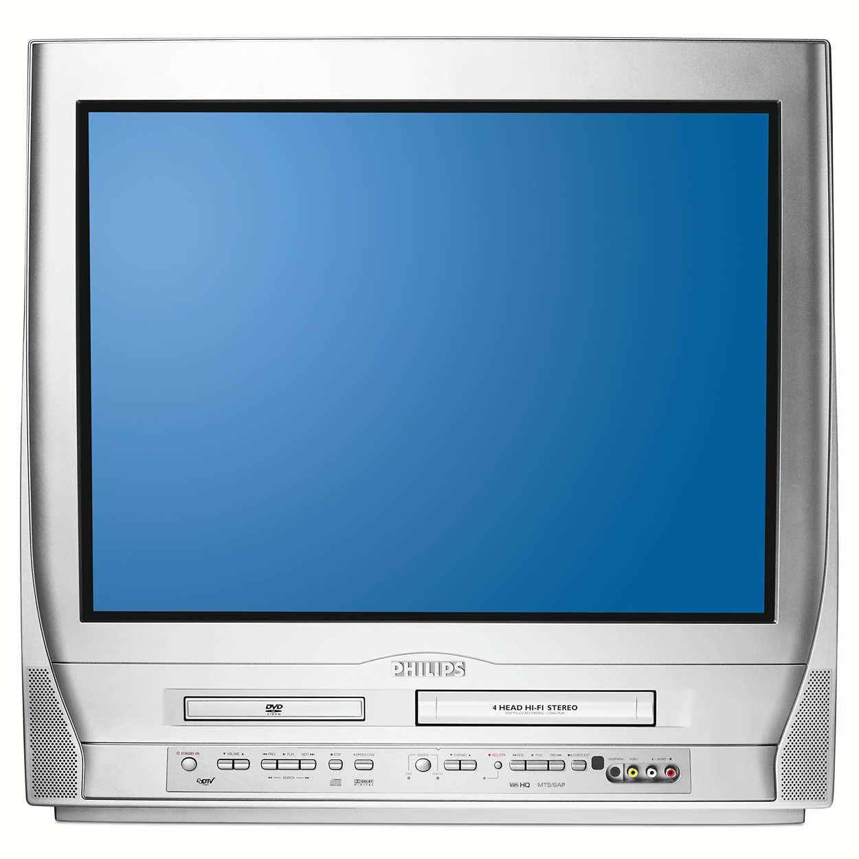"Real Flat 27"" (diagonal) Triple Combination TV"