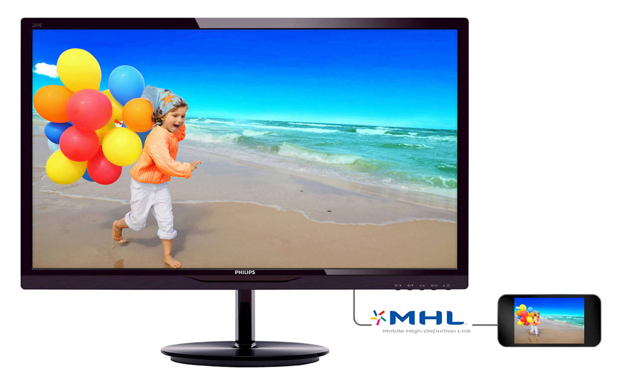LCD monitor with SmartImage lite 284E5QHAD/01 | Philips