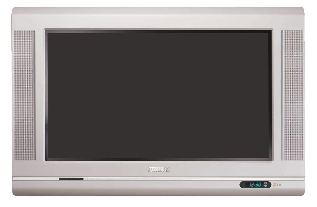 Breedbeeld-TV met Real Flat-systeem
