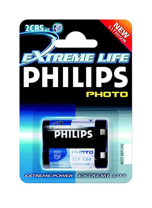 Technologie du lithium haute qualité pour votre appareil photo