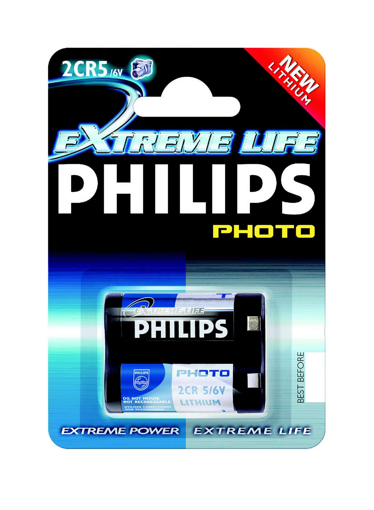 Hoogwaardige lithiumtechnologie voor uw camera