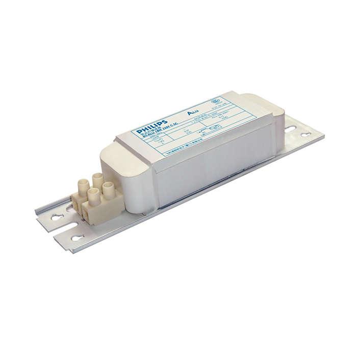 BT-ALU EM ballasts for TL Fluorescent lamps