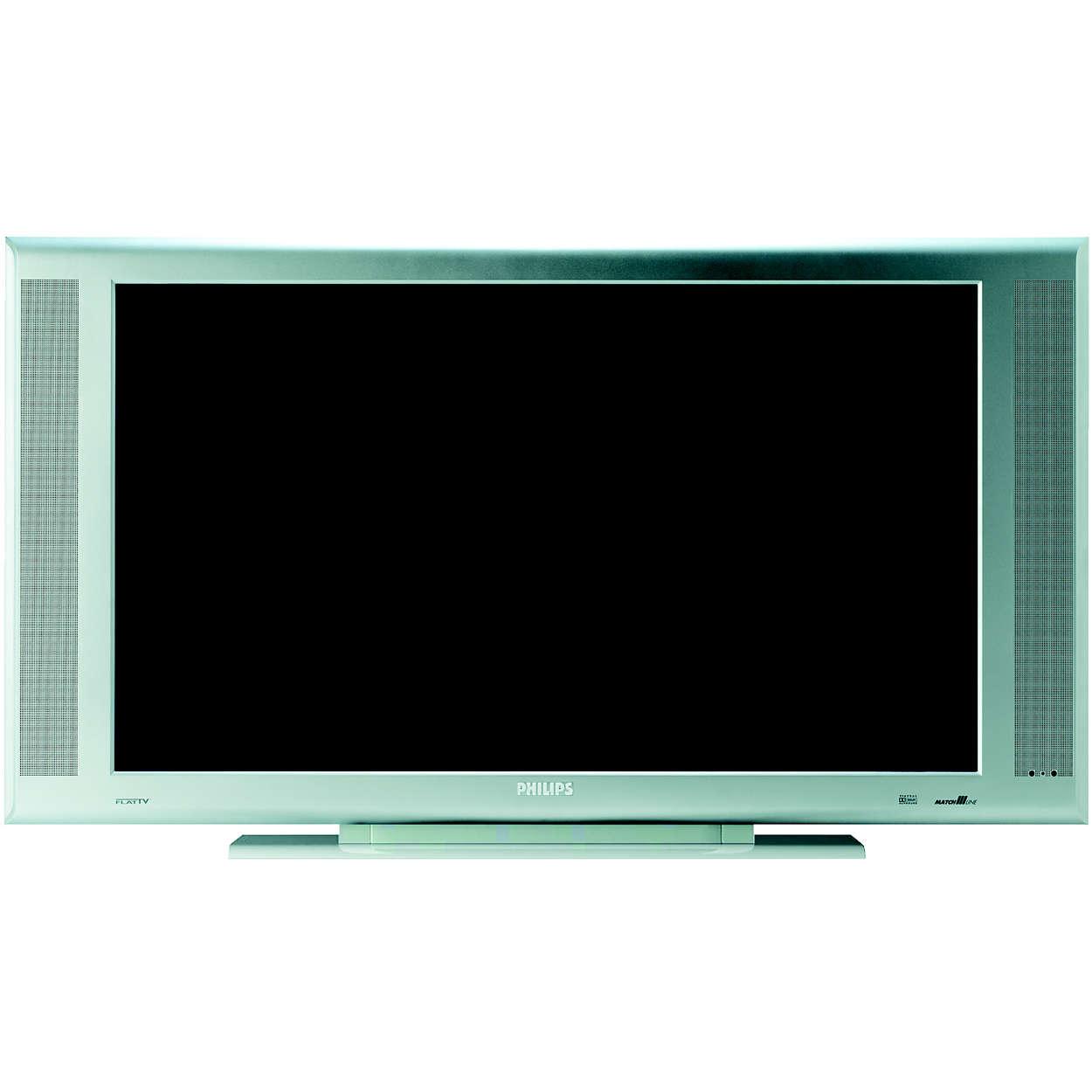 Плосък телевизор с подготвена система