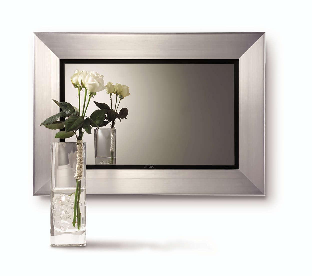 Speil-TV med multimedieskjerm
