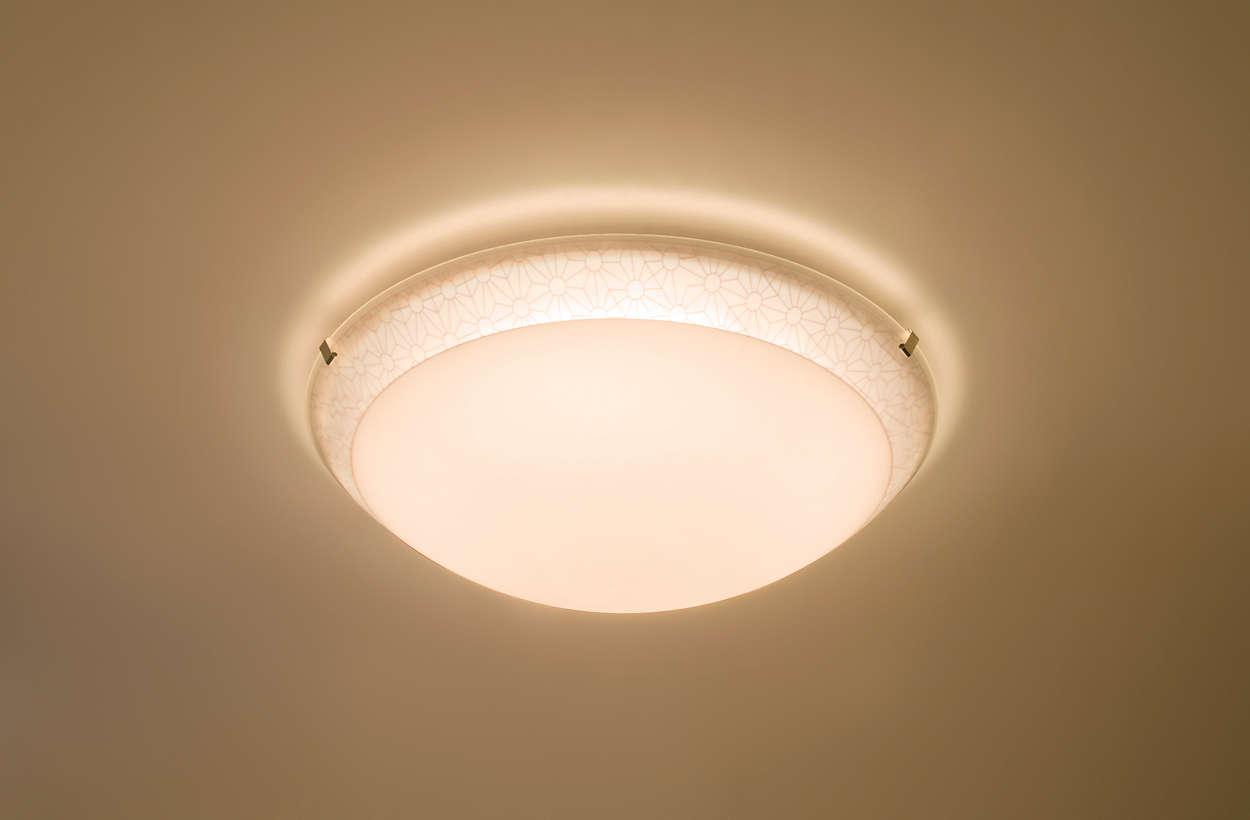 Iluminado y relajado