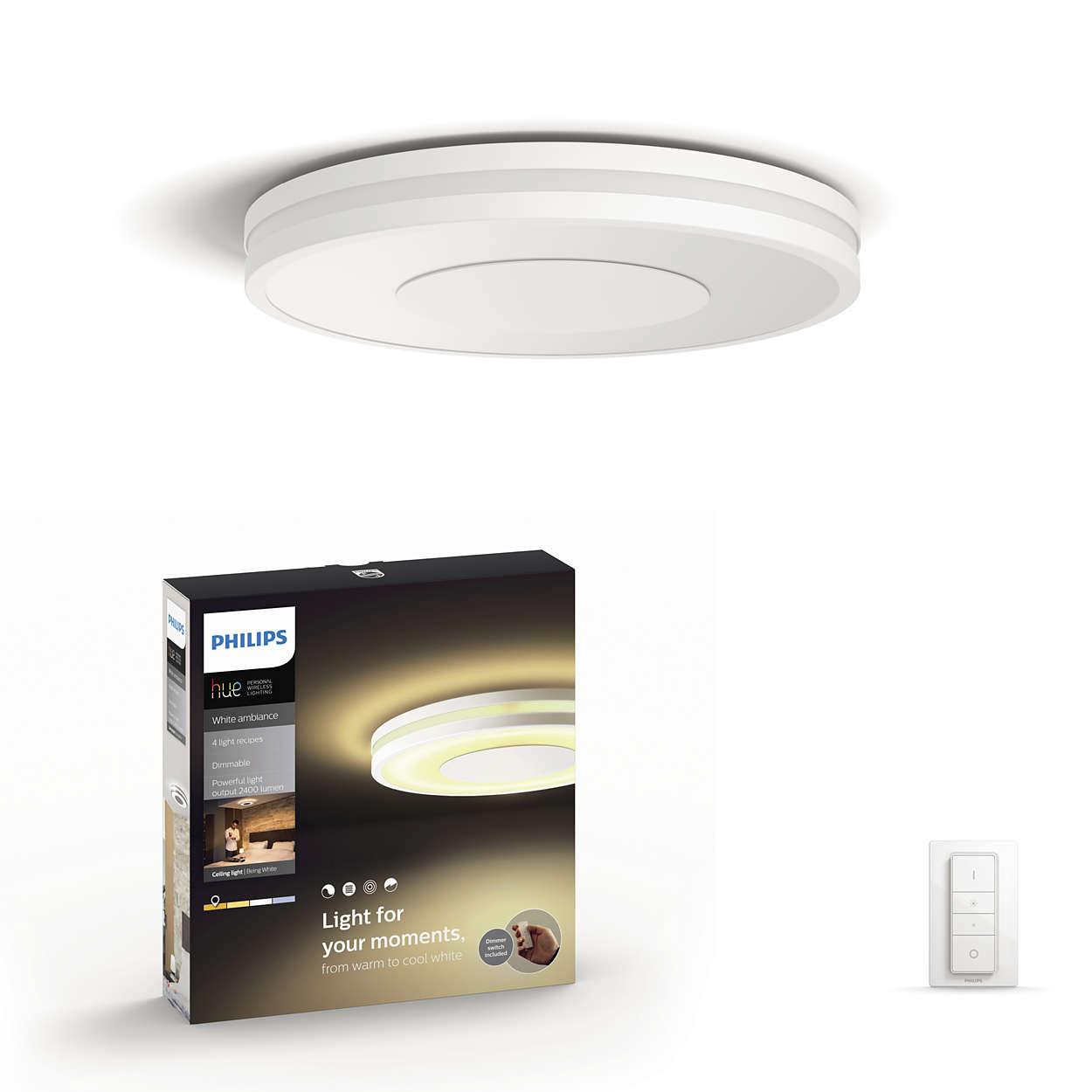 Proiectează o lumină strălucitoare minunată pe tavan